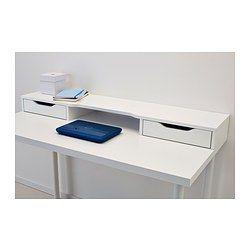IKEA - ALEX, Módulo ad, , Te permite crear un espacio práctico para el material de escritorio, porque el módulo tiene 2 amplios cajones y puedes colocarlo sobre cualquier superficie.