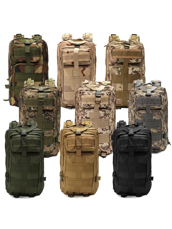 30L Military Molle Army Camping Backpack Tactical Hiking Bag Woodland Camouflage