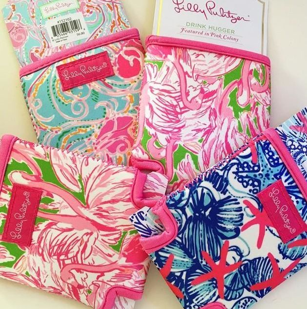 Lilly Pulitzer Printed Drink Hugger (Coozie)- new prints in stock
