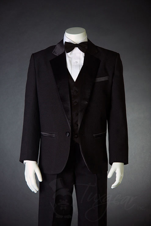 TinyTux now offers incredible boys tuxedo vests in a variety of colors to coordinate perfectly with our children's tuxedo collections. We are sure to have a color to match most any wedding party. We also offer a complete line of boys formal wear including boys tuxedo shoes and boys cummerbund sets with boys bow ties to complement a child's tuxedo.