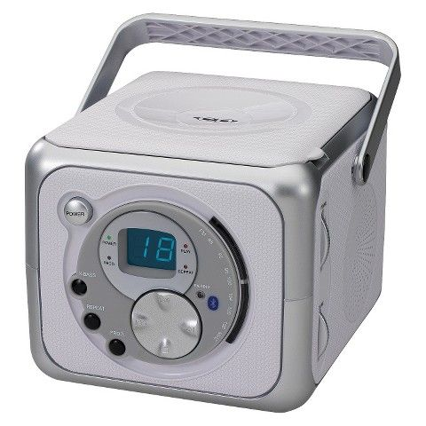 Jensen Portable Bluetooth Music System with CD Player - Silver (CD-555A)