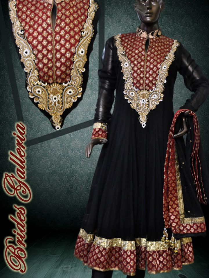 Black Anarkali Suit black kalidar punjabi suit $250