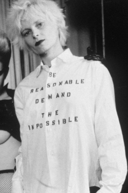 Vivienne Westwood Explains Punk Motivations (Vogue.com UK)http://www.youtube.com/watch?feature=player_embedded=j1-beoxg9Ok Vivienne Freakin Westwood