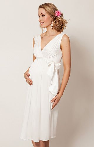 Anastasia Maternity Wedding Dress Short (Ivory) by Tiffany Rose