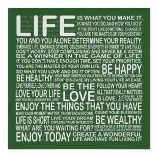Go Green - Be Active Be Healthy Enjoy Your Life