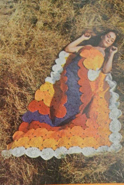 Love this 1970s crochet blanket photo!!!