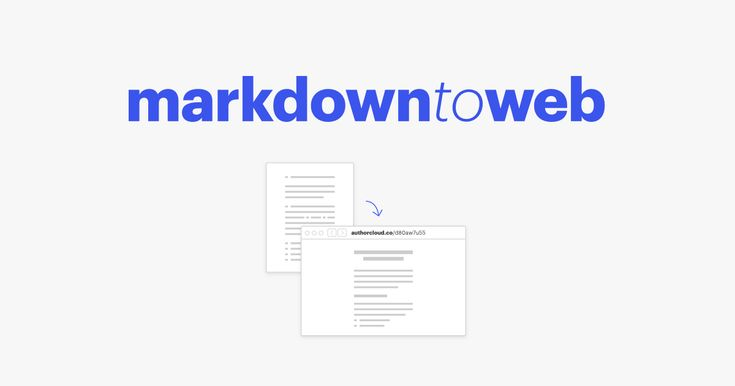 convert markdown to the online web page