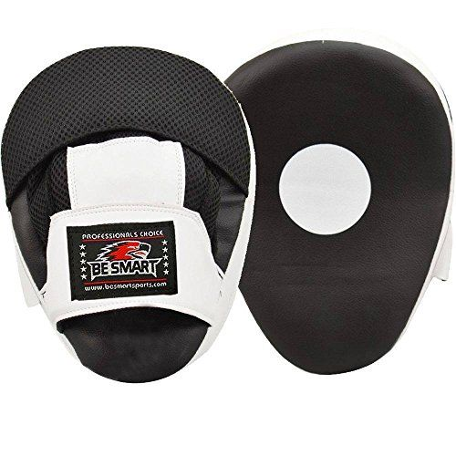 pair Focus Pads Boxing Punch Bag Focus Pad Karate Muay Thai Kick Training Curved