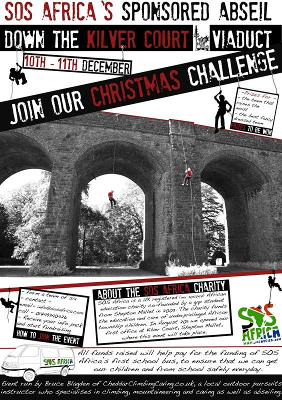 SOS Africa's Kilver Court Viaduct Abseil Christmas in 2011 #FundraisingEvent... #Abseiling #ViaductAbseil #ChristmasFundraiser #CharityEvent