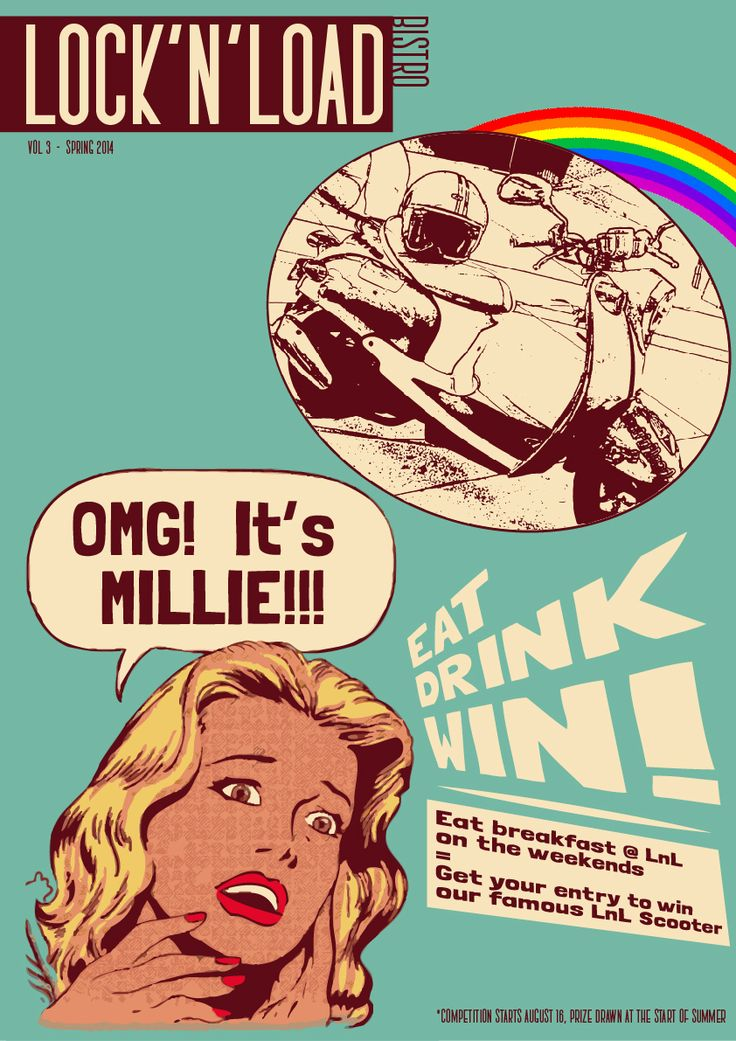 Eat breakfast at Lock'n'Load Bistro on the weekend, and get your entry to win our famous LnL Scooter - 'Millie Milan'!