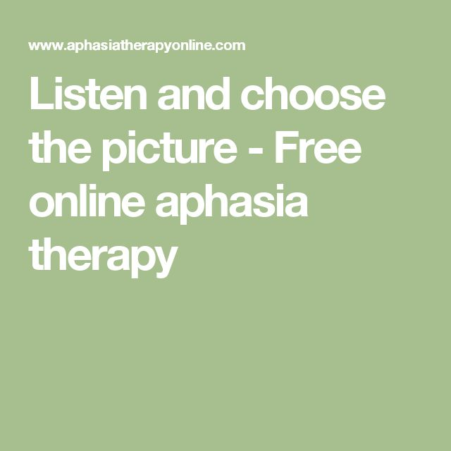 Listen and choose the picture - Free online aphasia therapy