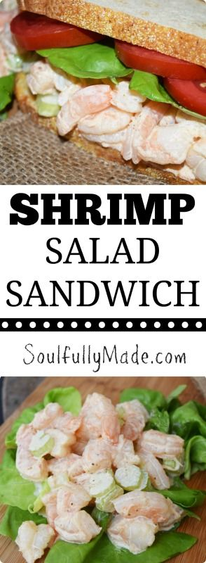 This classic Shrimp Salad Sandwich is packed full of delicious large shrimp with a delightful creaminess, a bite of crunchy celery finished off with Old Bay spice. Perfectly nestled between your favorite crusty bread! #SundaySupper