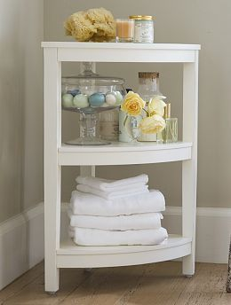 Nice Bathroom Corner Shelf.