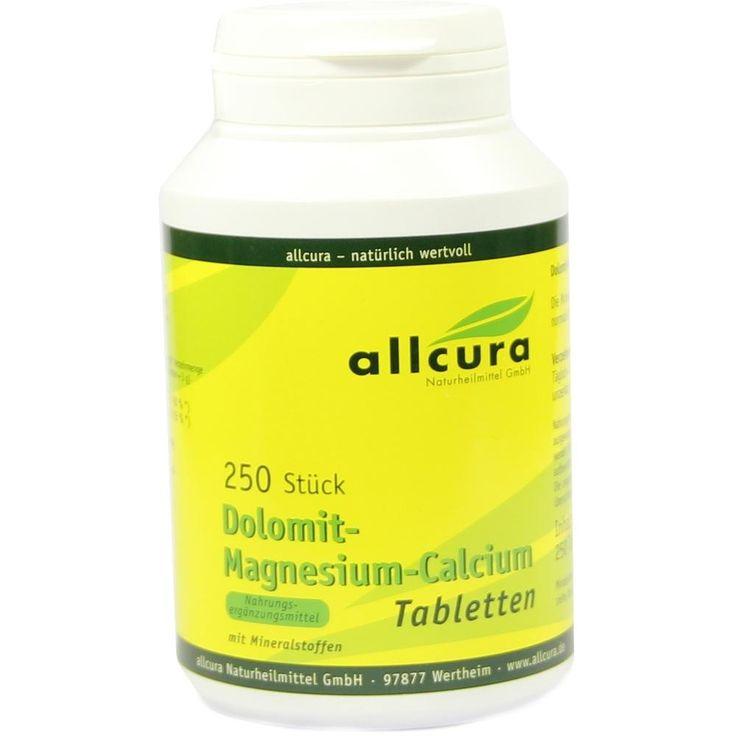 DOLOMIT Magnesium Calcium Tabletten:   Packungsinhalt: 250 St Tabletten PZN: 03994923 Hersteller: allcura Naturheilmittel GmbH Preis:…