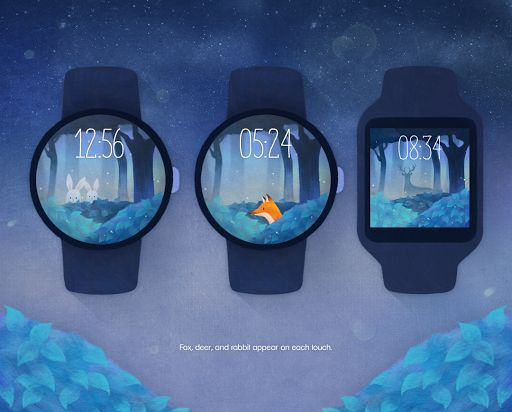 Mysterious Forest watchface.https://play.google.com/store/apps/details?id=dd.watchdesigner.mysteriousforest