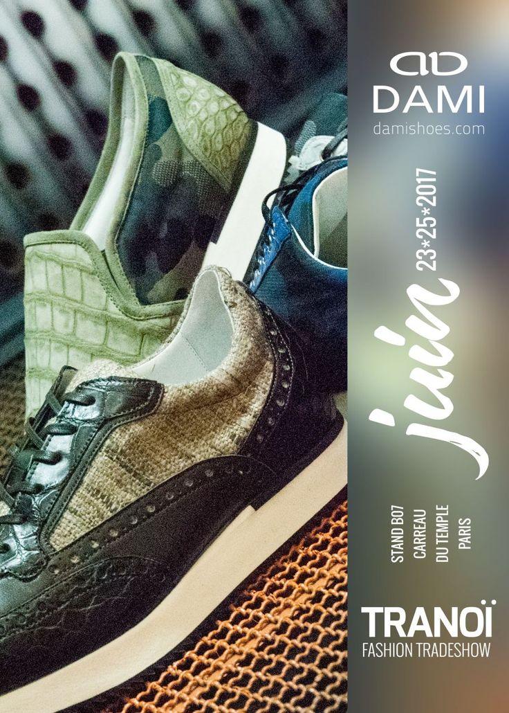 DamiShoes Tranoi Fashion Trade Show - 23/25 Juin 2017 - Paris  #menfashion #menshoes #madeinitaly #damishoes  www.damishoes.com