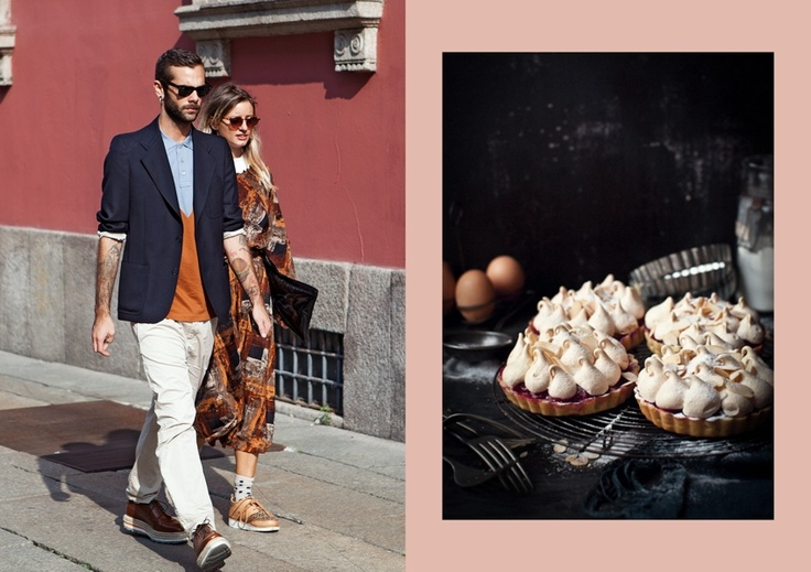 Street Style shot by The Locals // Cherry Meringue Tartlets at What Katie Ate