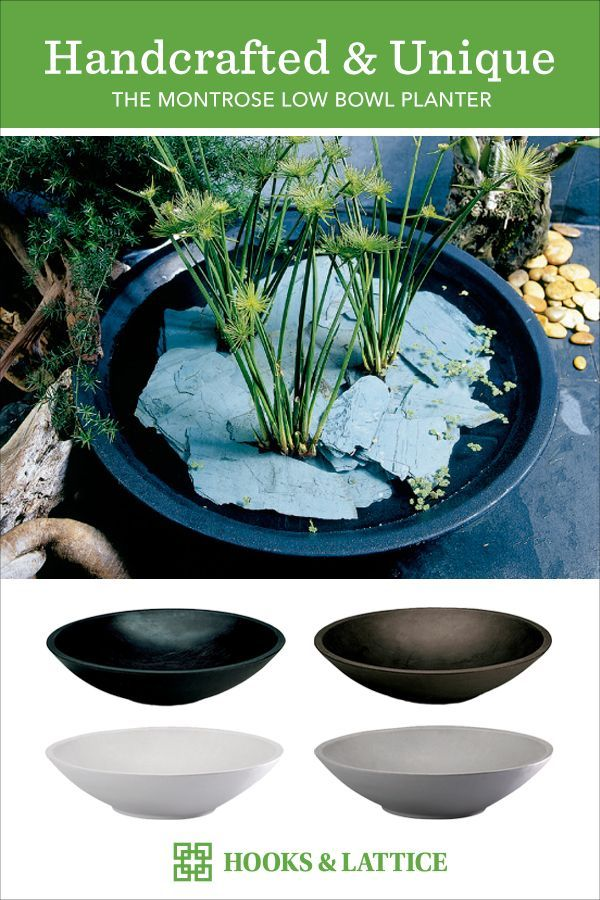 Modern Bowl Planters Made Of Shatter Resistant Resin