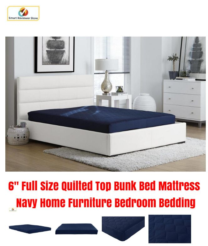 6 Full Size Quilted Top Bunk Bed Mattress Navy Home Furniture