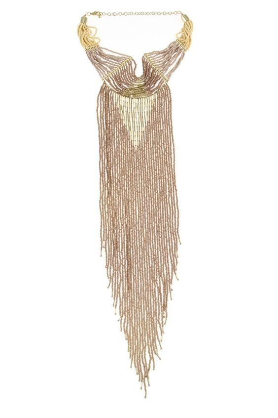 Fringe Gypsy Necklace Natural – Rocks And Socks
