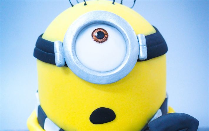 Download wallpapers Stuart, miner, Minions, Despicable Me, 3D-animation