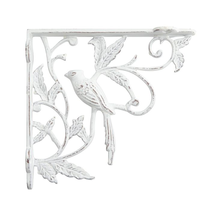 bird and vine cast iron shelf bracket