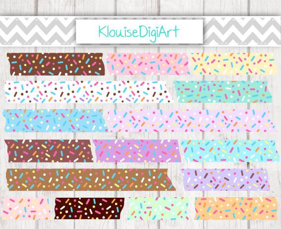 Chocolate Mint Strawberry Chunky Donut Sprinkles by KlouiseDigiArt
