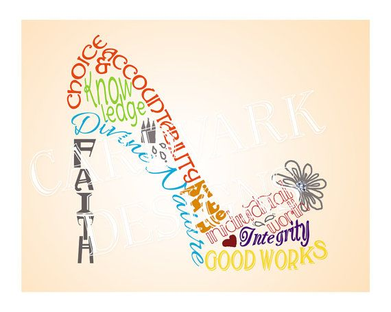 Shoe Clipart Young Women Values Digital Design by cardvarkdesigns