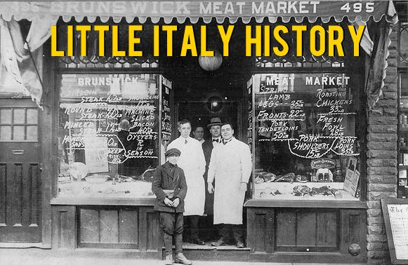 HISTORY: Italians arrived in Toronto in large numbers during the early 20th century, settling in an area then known as The Ward, centred on University Avenue and College Street. By the late 1920s, most Italians had moved west of Bathurst Street and the College-Clinton area had emerged as the city's major Little Italy.