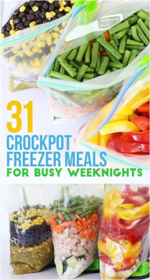 how to plan slow cooker meals out of freezer