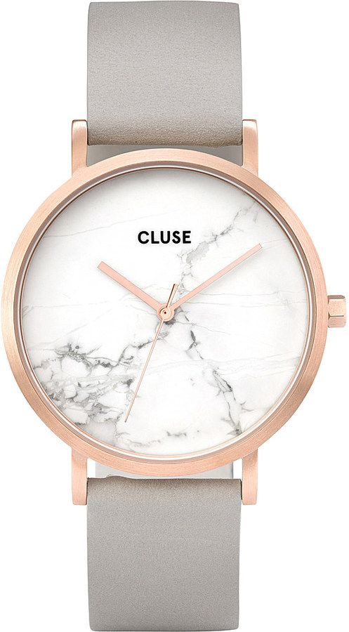 CLUSE CL40005 La Roche marble-dial leather watch