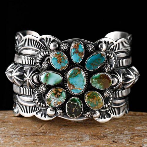Delbert Gordon Navajo Royston Turquoise Bracelet Sterling Silver   eBay