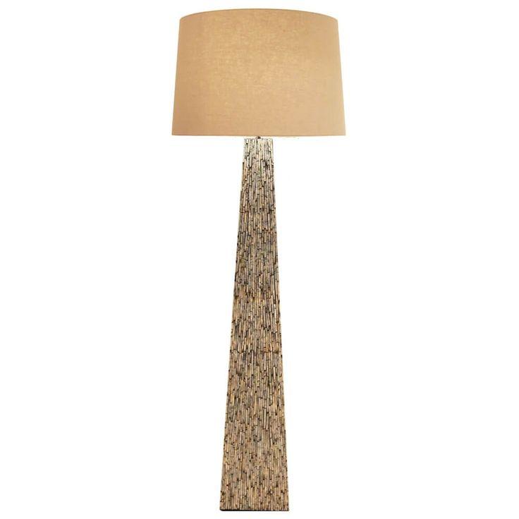 Unique SIT Stehleuchte Gestell Braun Schirm Natur Jetzt bestellen unter https moebel ladendirekt de lampen stehlampen standleuchten uid udaf ec