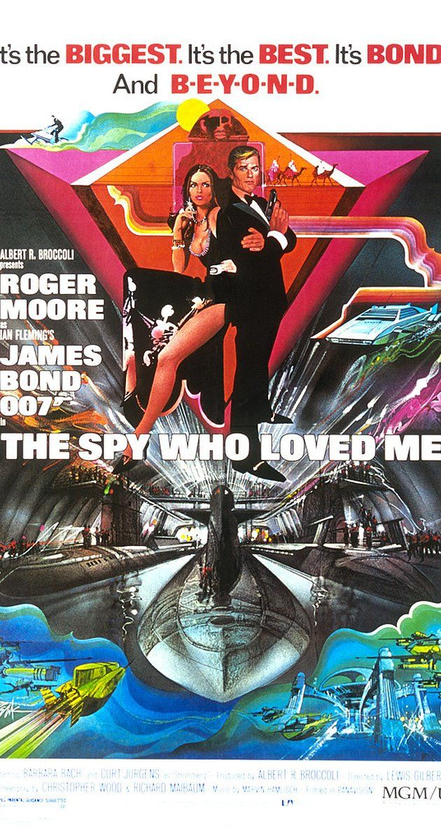 Directed by Lewis Gilbert. With Roger Moore, Barbara Bach, Curd Jürgens, Richard Kiel. James Bond investigates the hijacking of British and Russian submarines carrying nuclear warheads with the help of a KGB agent whose lover he killed.
