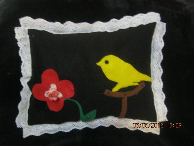 almohada pajarito paño lency