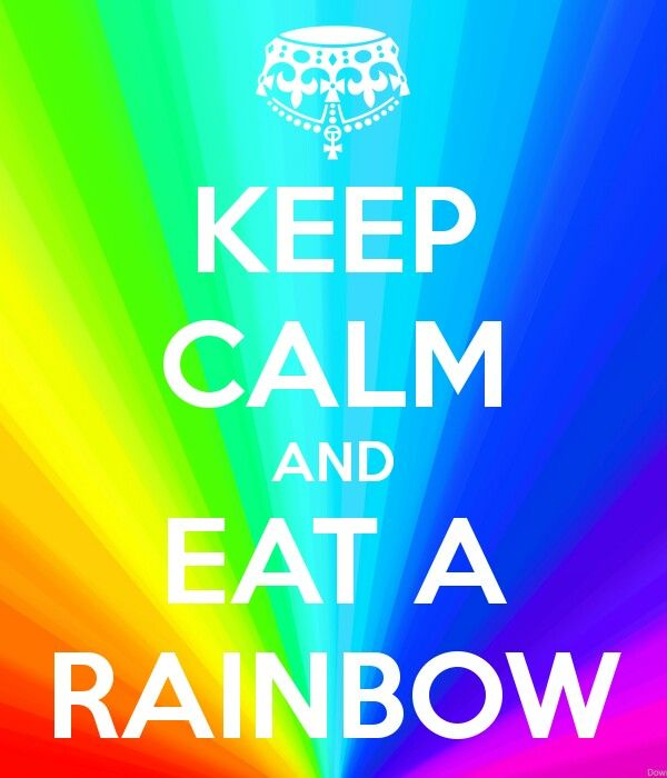 Who needs an apple when you can eat a rainbow...
