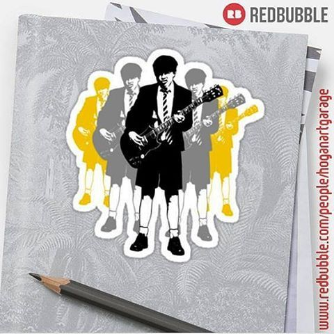 Sold!! 😃..thanks to the recent buyers in the UK and Australia of this 'Taking the Lead' sticker design from my @Redbubble webstore. #redbubble #stickers #rocklegend #guitar #gibsonguitars #acdc #angus #angusyoung #highwaytohell #art #popart #design #rockmusic #music #guitarist #hardrock #school #schoolofrock #guitar #popular  #acdcfan   Check out http://www.redbubble.com/people/hoganartgarage/works/10175954-taking-the-lead-angus-young?asc=u&c=228348-stickers&p=sticker&rel=carousel