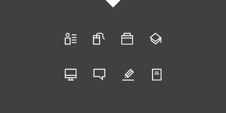 Resume / CV Icon Pack on Behance by Kozi Design.