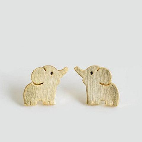 Elephant Stud Earrings - Rebel Style Shop - Looking for cute earrings to complement your rock star outfit? Well, these elephants will surely add a youthful element to your look. It can be worn alongside other earrings for a punk rock look, or alone for a sweet add-on to your dainty, Boho OOTD.