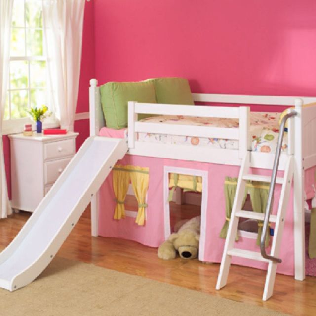Full size low loft bed for girls