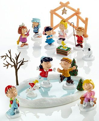 Department 56 Peanuts Village Collectible Figurine Collection. Skating with Snoopy