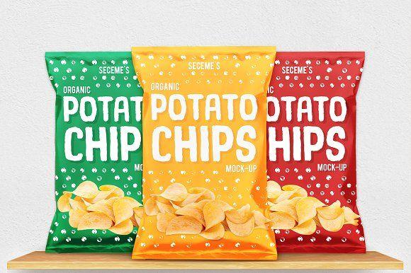 Download Chips Bag Mock Up By Seceme Shop On Creativemarket Mockup Free Psd Business Card Logo Free Psd Mockups Templates