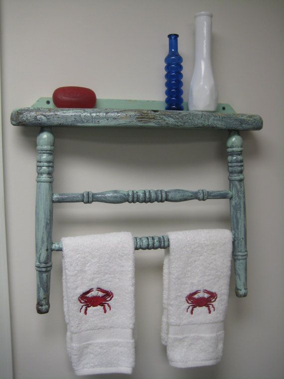 Antique Chair Back Repurposed Into Towel