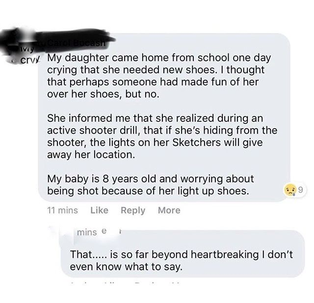 It's horrible that kids have to think constantly about what to do to not get shot...