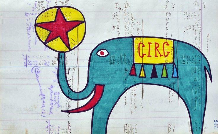 Eine zweite Version des Zirkuselefanten von Paco Felici