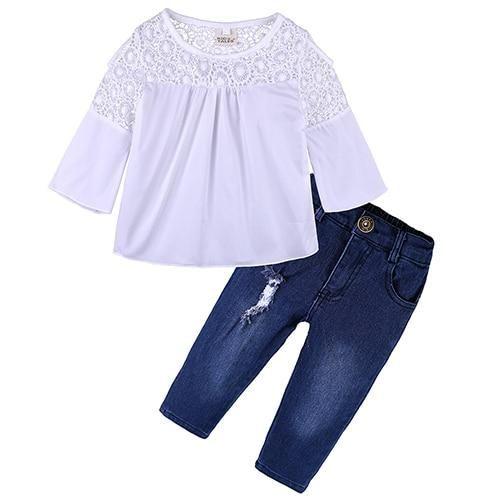 653c50653 2018 New Toddler Girls Off Shoulder Shirt & Pants Sets Collection ...