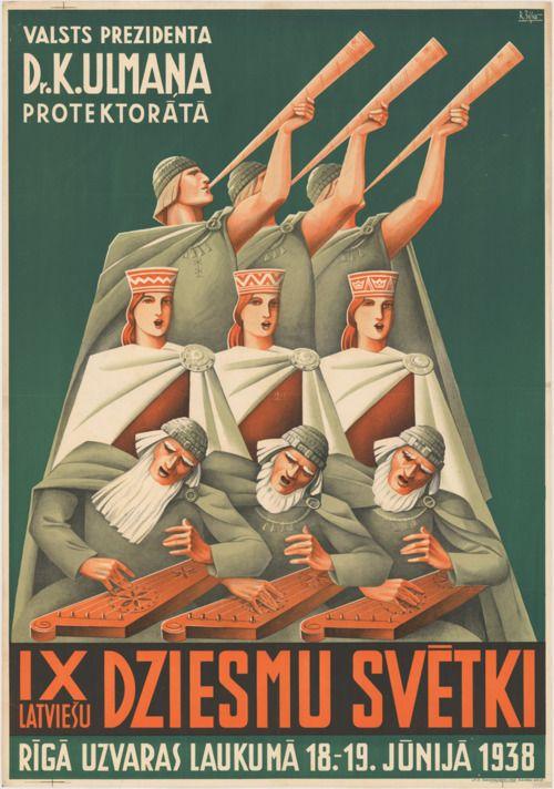 Latvian art deco google search affiches art deco - Affiche art deco ...