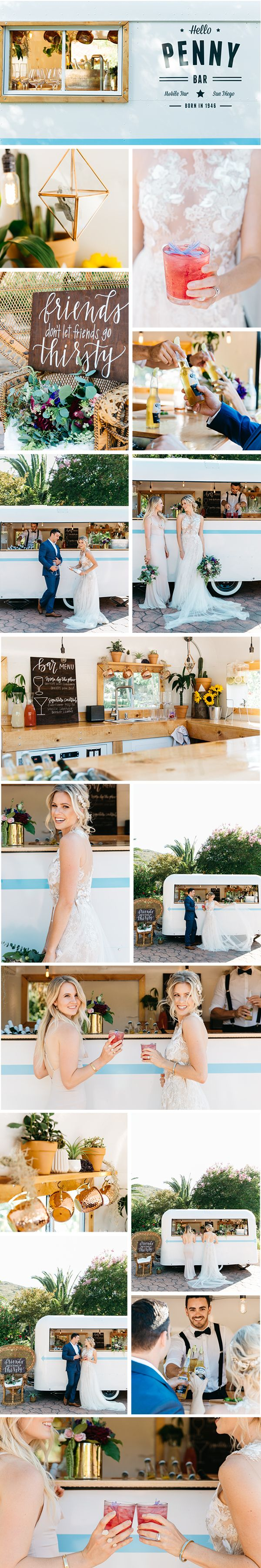 How cute is this mobile bar named Penny?! Head to www.kyliechevalier.com/blog for more inspo!