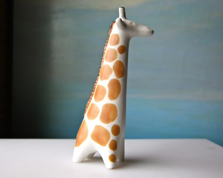 Vintage Arabia Finland giraffe, 1964