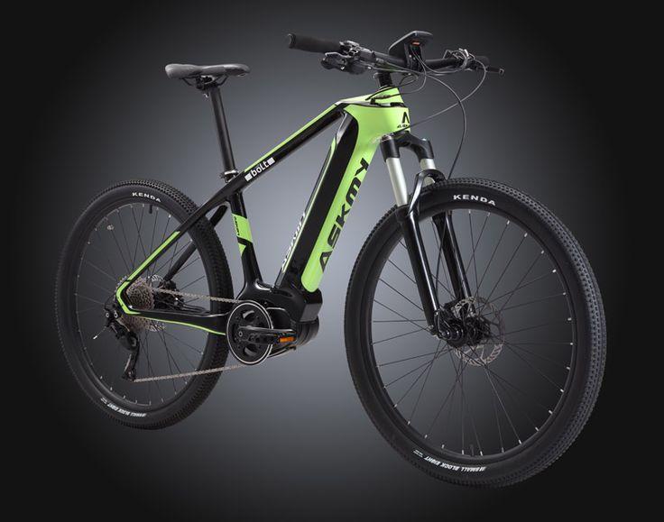 Full Carbon Electric Bike Mid-drive Bafang Mountain Bike 36V/350W Integrated
